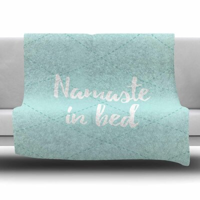 Namaste in Bed Fleece Blanket Color: Gray