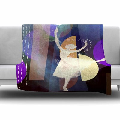 Ballet by alyZen Moonshadow Fleece Blanket Color: Pink