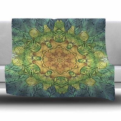 Celtic Flower by Art Love Passion Fleece Blanket Color: Golden