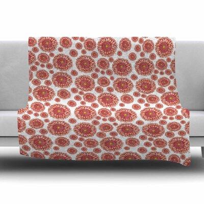 Orange flowers. Gerbera by Alisa Drukman Fleece Blanket Size: 80 L x 60 W