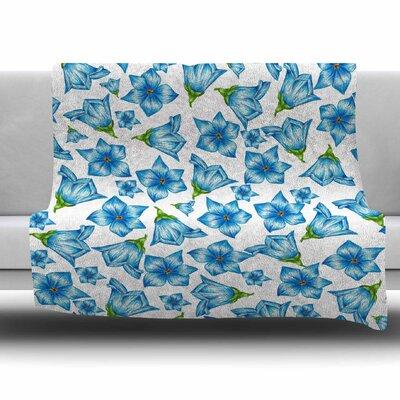 Flowers by Alisa Drukman Fleece Blanket Size: 80 L x 60 W