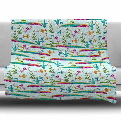 Under Sea by Alisa Drukman Fleece Blanket Size: 80 L x 60 W