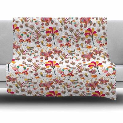 Fairy Forest by Alisa Drukman Fleece Blanket Size: 80 L x 60 W