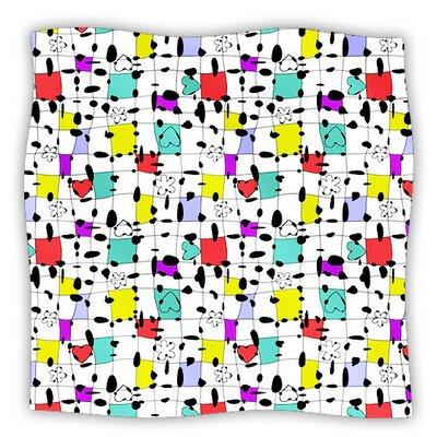 My Happy Squares by Julia Grifol Fleece Blanket Size: 80 L x 60 W
