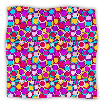 My Colourful Circles by Julia Grifol Fleece Blanket Size: 80 L x 60 W
