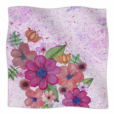 My Garden in Pink by Julia Grifol Fleece Blanket Size: 80 L x 60 W