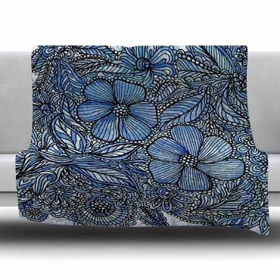 Flowers in My Garden by Julia Grifol Fleece Blanket Size: 80 L x 60 W