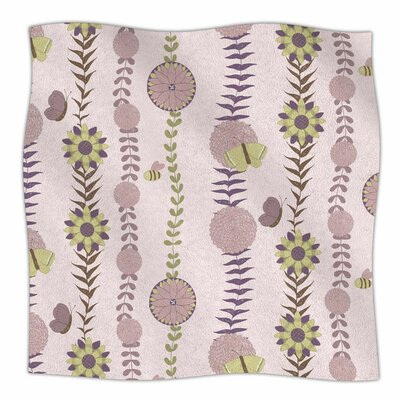 Flower by Judith Loske Fleece Blanket Size: 80 L x 60 W