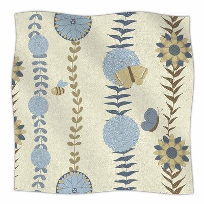 Flower Garden by Judith Loske Fleece Blanket Size: 80 L x 60 W