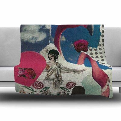 Flamingo Attack by Jina Ninjjaga Fleece Blanket Size: 80 L x 60 W