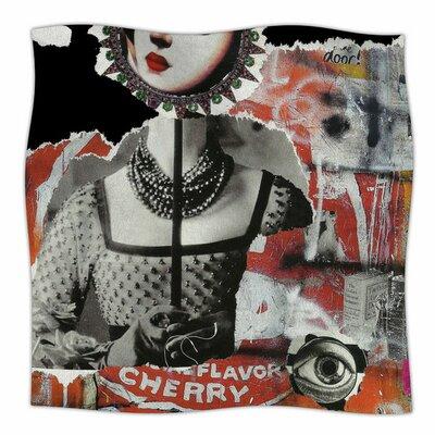 Anarchy by Jina Ninjjaga Fleece Blanket Size: 80 L x 60 W