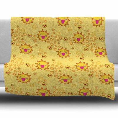 Its All Sunshine by Jane Smith Fleece Blanket Size: 80 L x 60 W