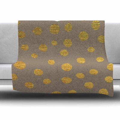 Earth Golden Dots by Nika Martinez Fleece Blanket