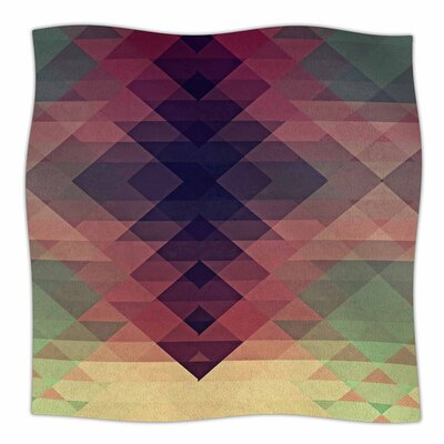 Hipsterland by Nika Martinez Fleece Blanket Size: 80 L x 60 W