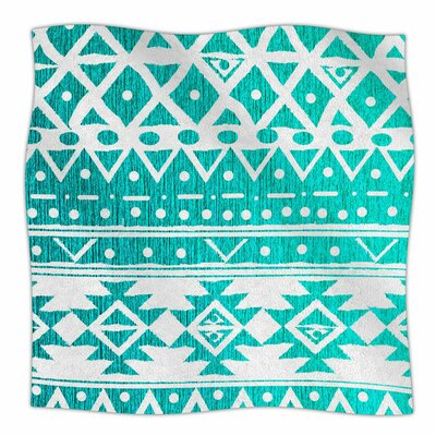 Aquamarine by Nika Martinez Fleece Blanket Size: 80 L x 60 W