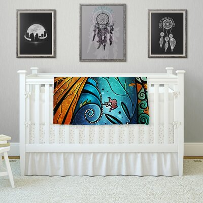 Sea Dance by Mandie Manzano Fleece Blanket Size: 80 L x 60 W