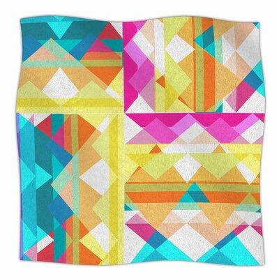 Triangle Checker by Miranda Mol Fleece Blanket Size: 80 L x 60 W