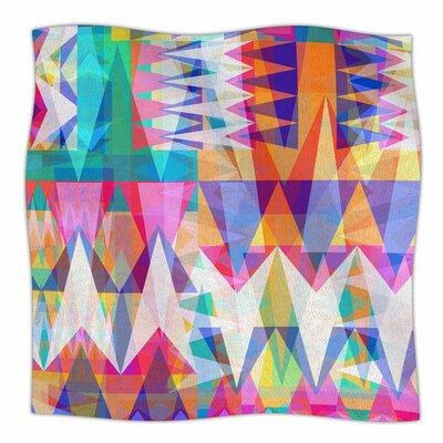 Triangle Collage by Miranda Mol Fleece Blanket Size: 80 L x 60 W