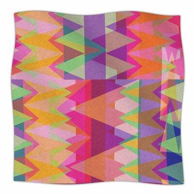 Triangle Fun by Miranda Mol Fleece Blanket Size: 80 L x 60 W