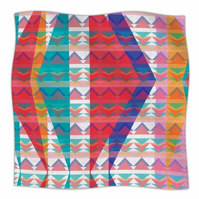 Triangle Illusion by Miranda Mol Fleece Blanket Size: 80 L x 60 W