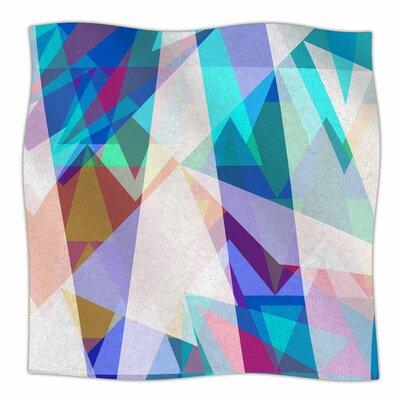 Triangle Party by Miranda Mol Fleece Blanket Size: 80 L x 60 W