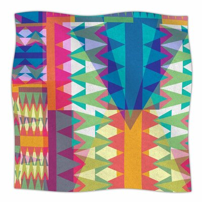 Triangle Quilt by Miranda Mol Fleece Blanket Size: 80 L x 60 W