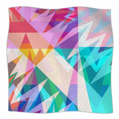Triangle Feast by Miranda Mol Fleece Blanket Size: 80 L x 60 W