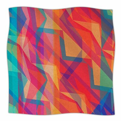 Triangle Opticals by Miranda Mol Fleece Blanket Size: 80 L x 60 W