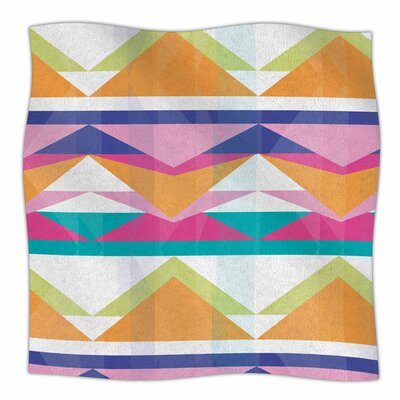 Triangle Waves by Miranda Mol Fleece Blanket Size: 80 L x 60 W