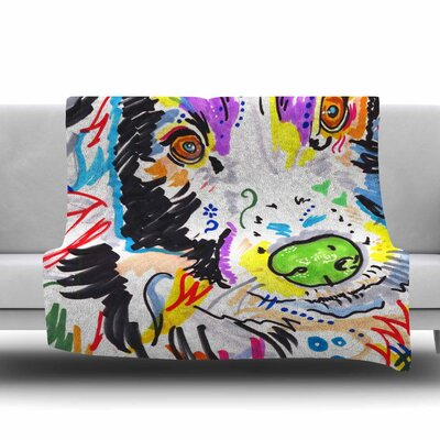 Buzz by Rebecca Fisher Fleece Blanket Size: 80 L x 60 W
