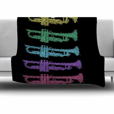 Trumpet Arch by BarmalisiRTB Fleece Blanket Size: 80 L x 60 W