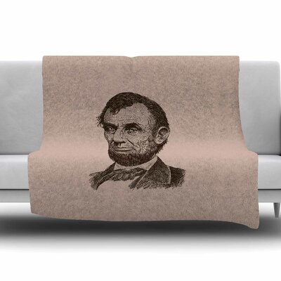 Abraham Lincoln by BarmalisiRTB Fleece Blanket Size: 80 L x 60 W