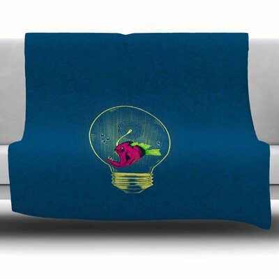 Anglerfish Bulb by BarmalisiRTB Fleece Blanket Size: 80 L x 60 W