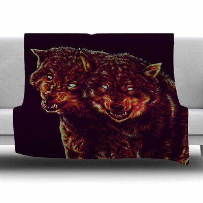 2head by BarmalisiRTB Fleece Blanket Size: 80 L x 60 W