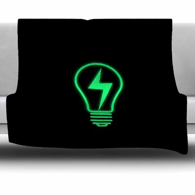 Thunder Bulb by BarmalisiRTB Fleece Blanket Size: 80 L x 60 W