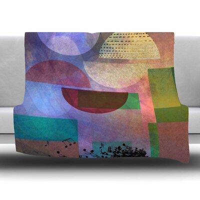 BAYING AT THE MOON by AlyZen Moonshadow Fleece Blanket Size: 80 L x 60 W