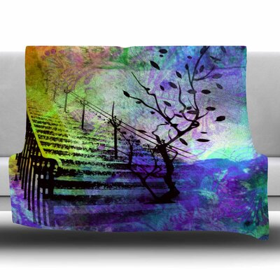 STAIRWAY by AlyZen Moonshadow Fleece Blanket Size: 80 L x 60 W