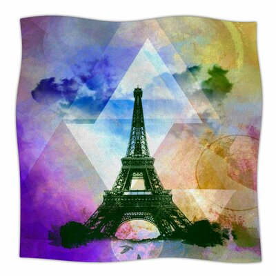 EIFFEL TOWER by AlyZen Moonshadow Fleece Blanket Size: 80 L x 60 W