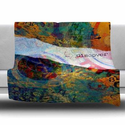 DISCOVER 3 by AlyZen Moonshadow Fleece Blanket Size: 80 L x 60 W