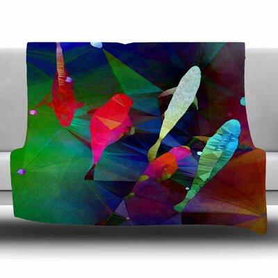 FISH 2 by AlyZen Moonshadow Fleece Blanket Size: 80 L x 60 W