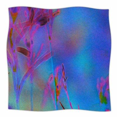 Painterly Foliage Series 2 by Malia Shields Fleece Blanket Size: 80 L x 60 W