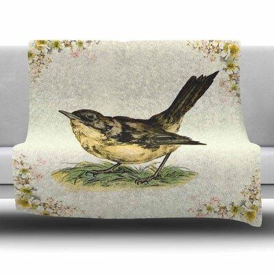 Vintage Bird by NL Designs Fleece Blanket Size: 80 L x 60 W