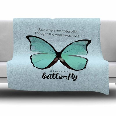 Butterfly by NL Designs Fleece Blanket Size: 80 L x 60 W
