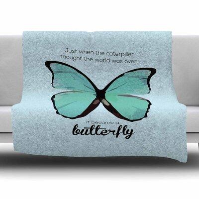 Butterfly by NL Designs Fleece Blanket Size: 80 L x 60 W