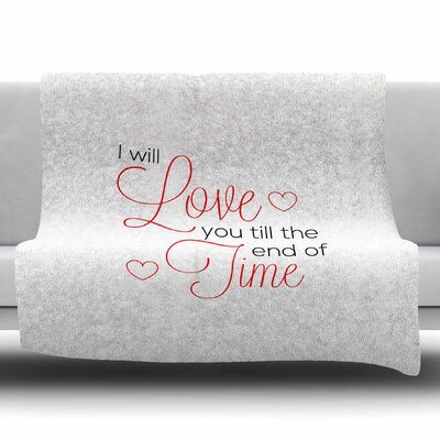 I Will Love You by NL Designs Fleece Blanket Size: 80 L x 60 W