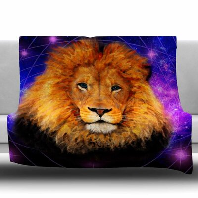 Space Lion by NL Designs Fleece Blanket Size: 80 L x 60 W