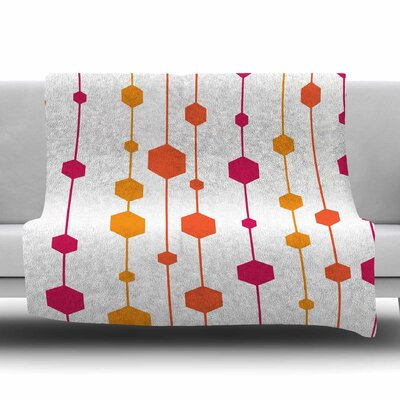 Warm Dots by NL Designs Fleece Blanket Size: 80 L x 60 W