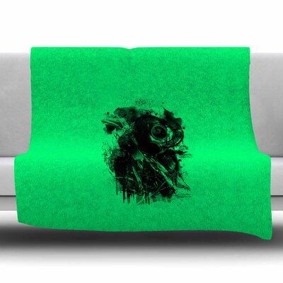 Gasmask by BarmalisiRTB Fleece Blanket Size: 80 L x 60 W