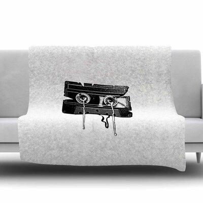 Cassette Memories by BarmalisiRTB Fleece Blanket Size: 80 L x 60 W