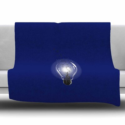 Bulb by BarmalisiRTB Fleece Blanket Size: 80 L x 60 W